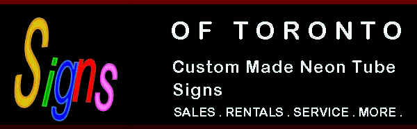 WELCOME TO SIGNS OF TORONTO LTD. WORLD WIDE PRESENCE